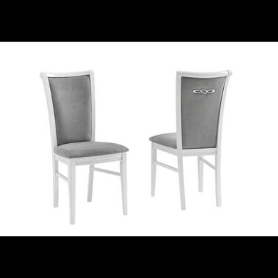 Chaise laqué gris ATHENA
