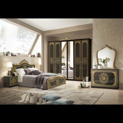 Chambre baroque laqué noir doré ALICE
