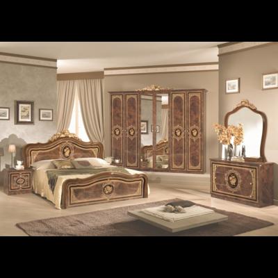 Chambre baroque laqué noyer doré ALICE