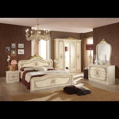 Chambre baroque laqué beige doré ALICE