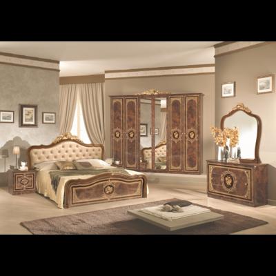 Chambre baroque laqué capitonné noyer doré ALICE