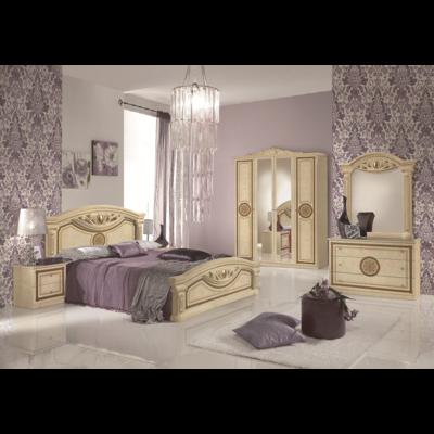 Chambre baroque laqué beige GIULIA