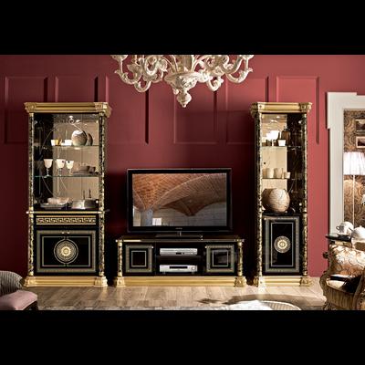 Mur TV baroque laqué doré VENUS