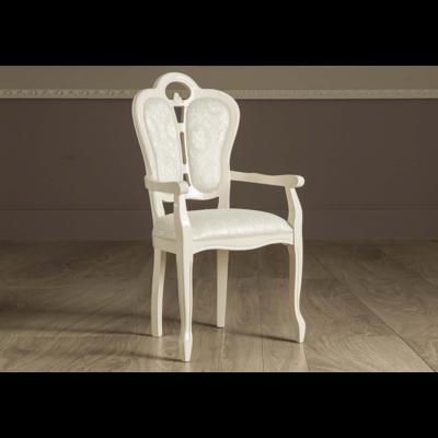 Chaise-fauteuil tissu beige GRETA