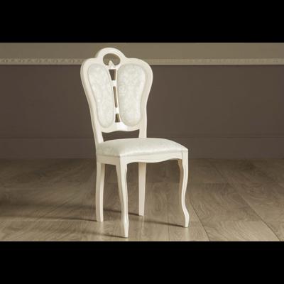 Chaise tissu laqué beige GRETA