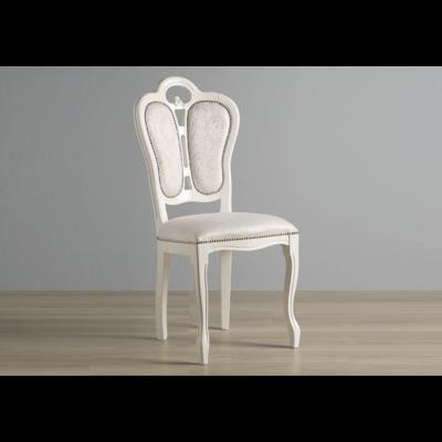 Chaise tissu laqué blanc GRETA