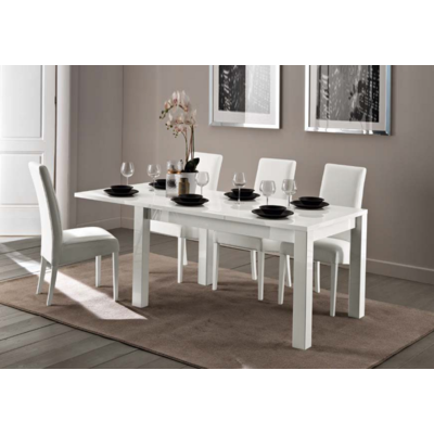 Table allonge chaise blanc FLY