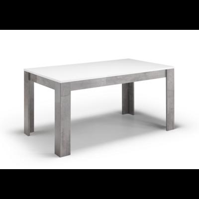 Table à manger et chaise béton blanc laqué GRETA