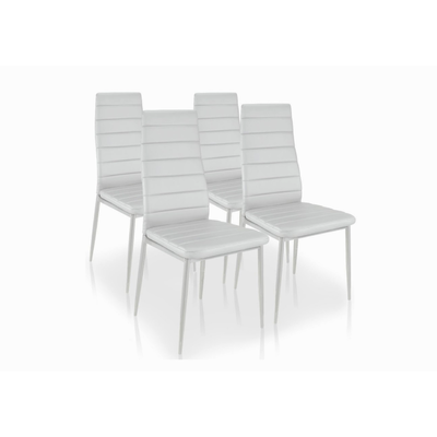 Lot 6 chaises design blanc FLY
