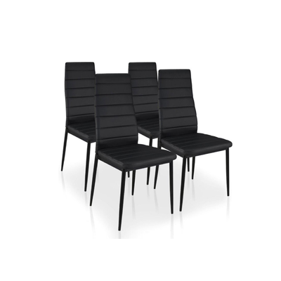 Lot 6 chaises design noir FLY