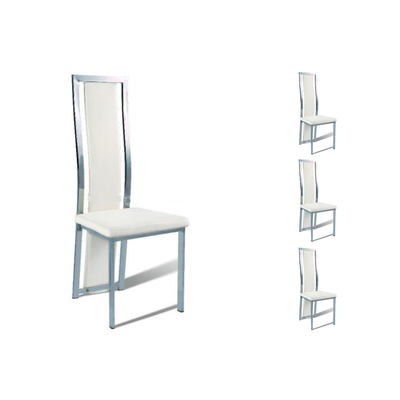 Lot 6 chaises chromé blanc DIA