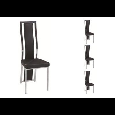 Lot 6 chaises chromé noir DIA