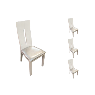 Lot 6 chaises laqué blanc AVA