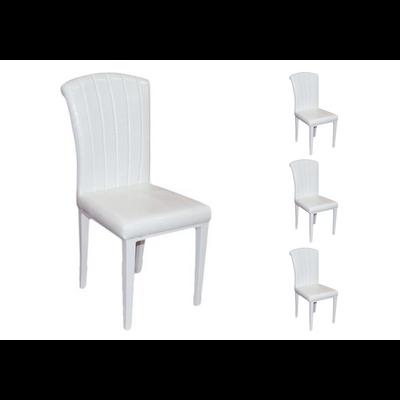 Lot 6 chaises laqué croco blanc SLY
