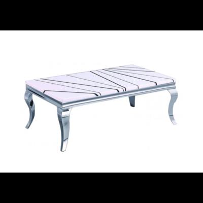 Table basse chromé marbre NEO