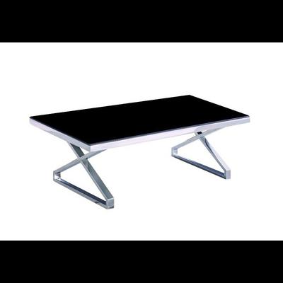 Table basse chromé verre trempé ZEA