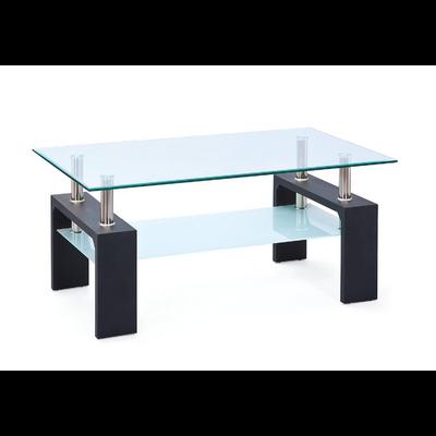 Table basse laqué noir verre trempé TOE