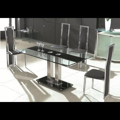 Table repas verre trempé et chaise TAM