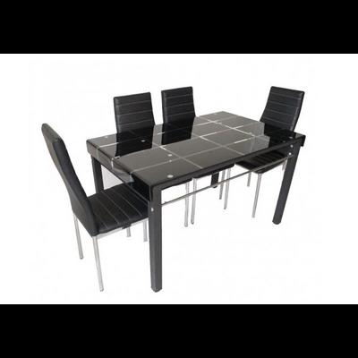 Table verre trempé et chaises TAO