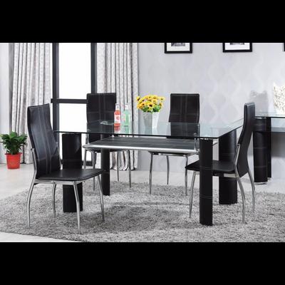 Table verre trempé et chaise TEVA