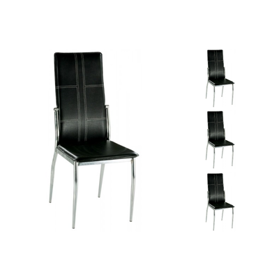Lot 6 chaises design noir TERA
