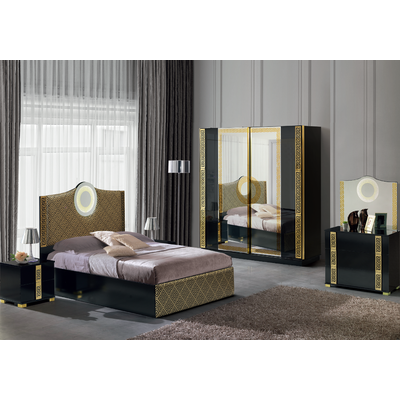 Chambre complète versace noir LED VERSUS