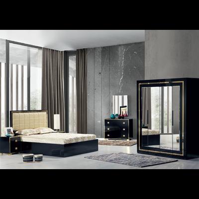 Chambre complète noir doré LONDON