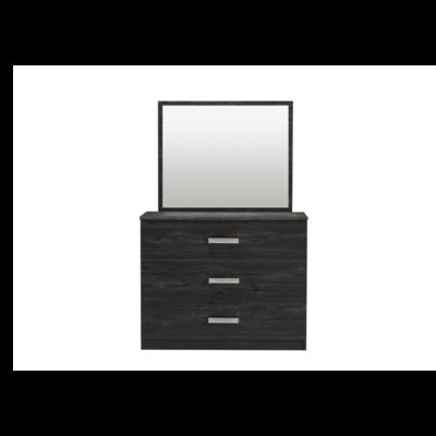 Commode 3 tiroirs miroir wengé CORDOBA