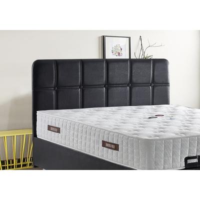Tête de lit capitonné simili noir BARI
