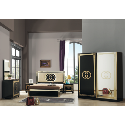 Chambre complète noir or led GUGI