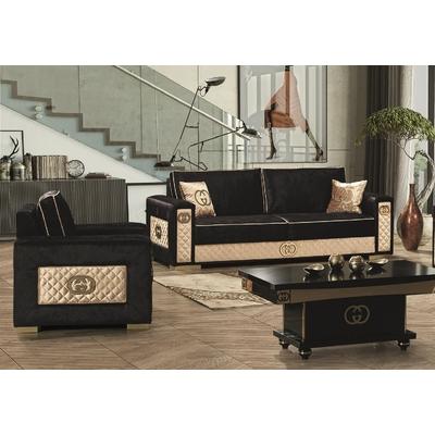 Canapé design tissu noir GUGI