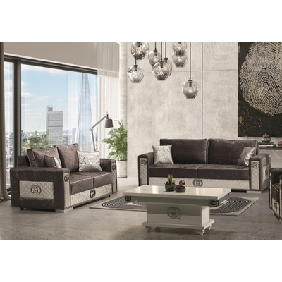 Canapé design tissu marron GUGI