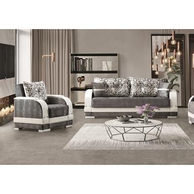 Canapé lit-coffre gris BAMAKO