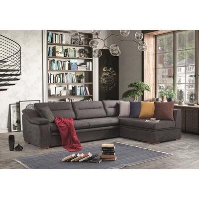 Canapé angle lit-coffre marron DIDIM