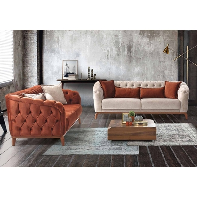 Canapé lit chesterfield velours SAFIR