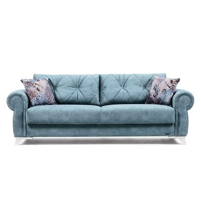 Canapé lit coffre turquoise MITO
