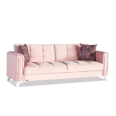 Canapé lit coffre rose ICÔNE