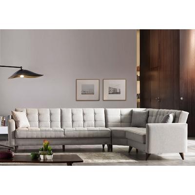 Canapé angle lit-coffre beige ORLANDO
