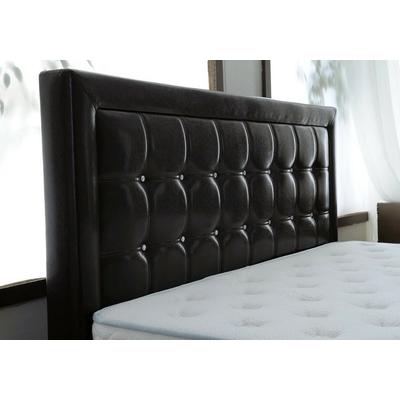 Tête de lit capitonné simili cuir noir KYBELE