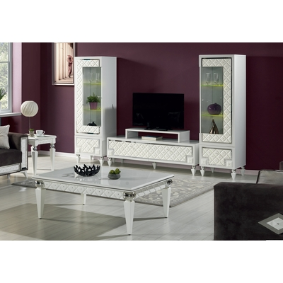 Ensemble meuble TV baroque strass CRISTAL