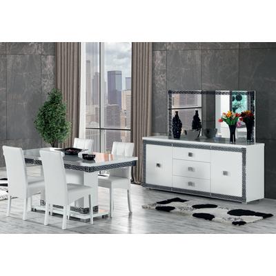 Salle à manger blanc chromé style VERSACE