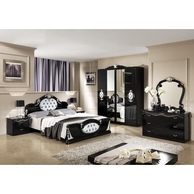 Chambre complète noir argenté MICHELLE