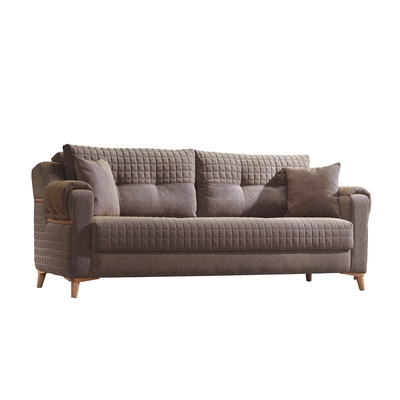 Canapé lit tissu marron ÉROS