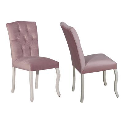 Chaise capitonné rose BAROK