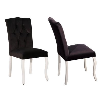 Chaise capitonné noir BAROK