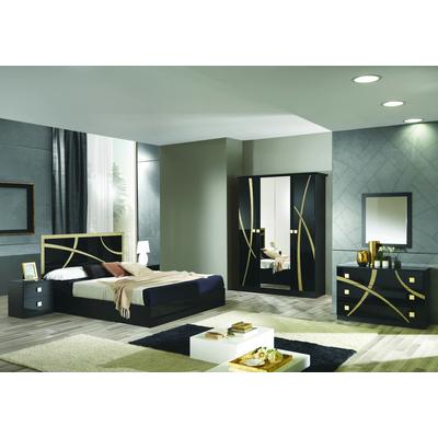 Chambre complète noir doré MILANO