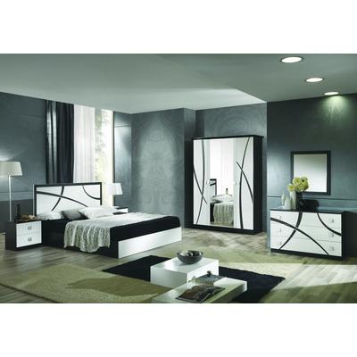 Chambre complète noir blanc MILANO