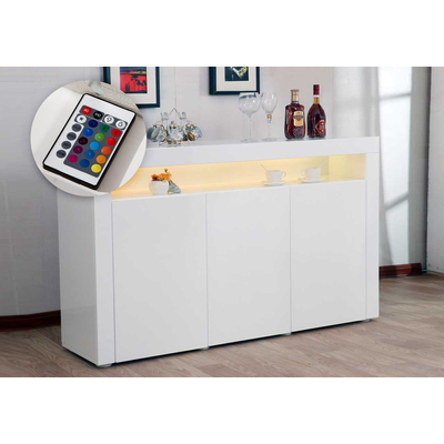Buffet design laqué blanc led ORÉA