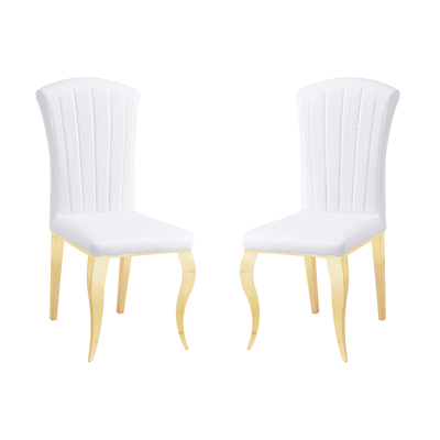 Chaises doré croco blanc ÉNO