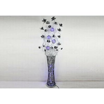 Lampadaire aluminium fleurs led ALBA